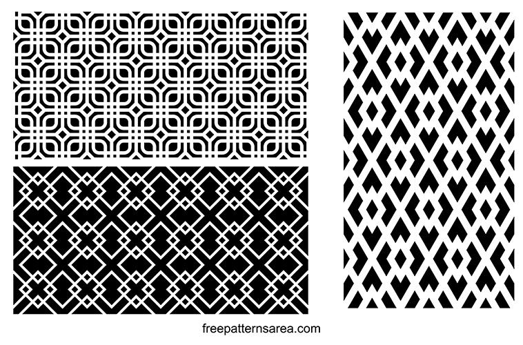 Geometric Symmetry Line Patterns Vector