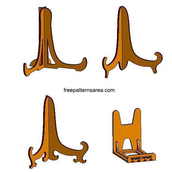 Laser Cut Photo Frame Plate Stand Cdr Files