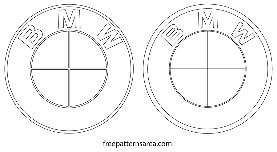Printable BMW Logo Outline Template Drawings