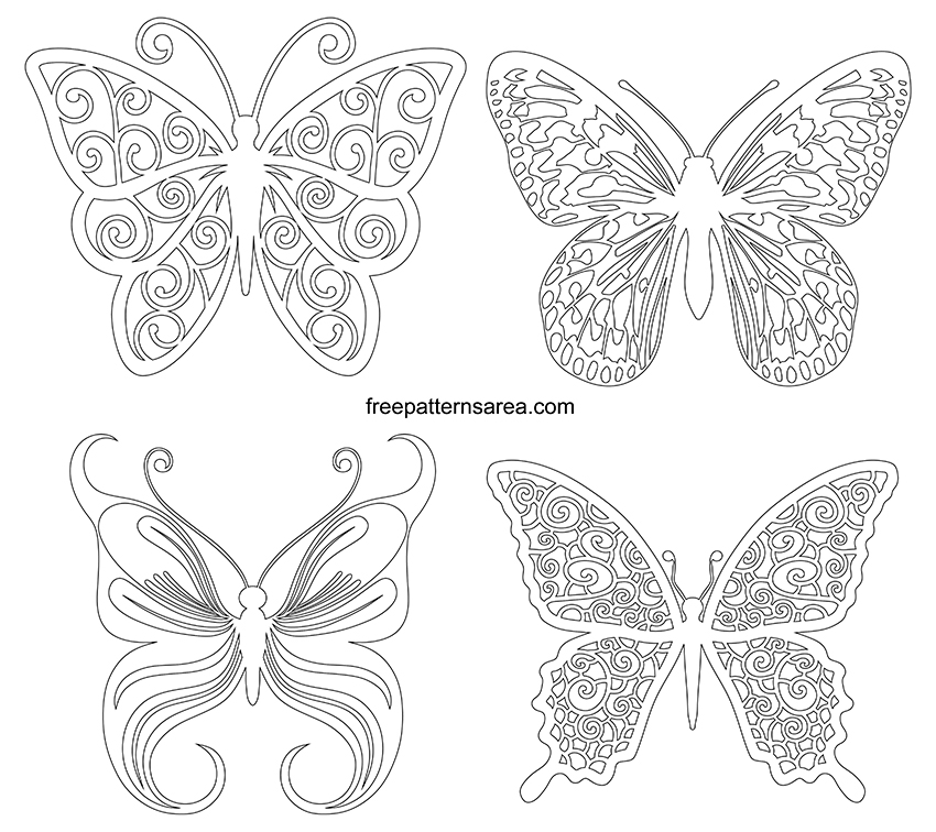 Printable Butterfly Outline Template Cut Out Drawings