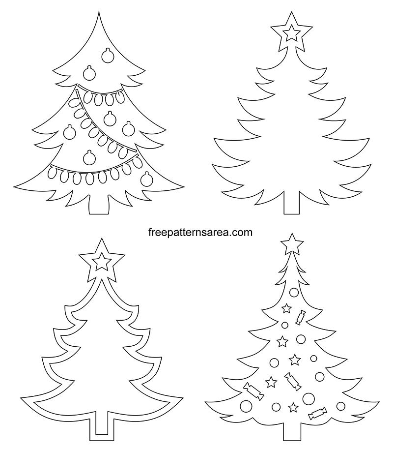Printable Christmas Tree Outline Template