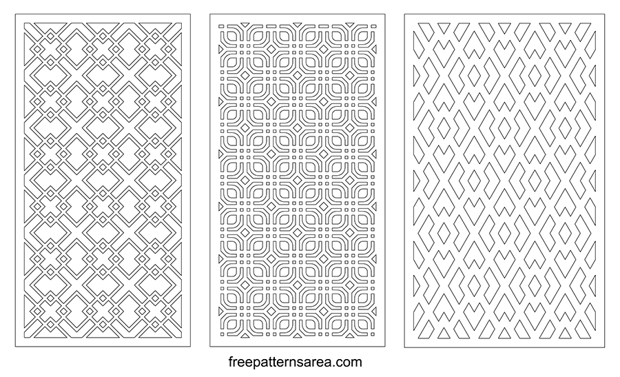 Seamless Cnc Screen Line Pattern Cdr Download