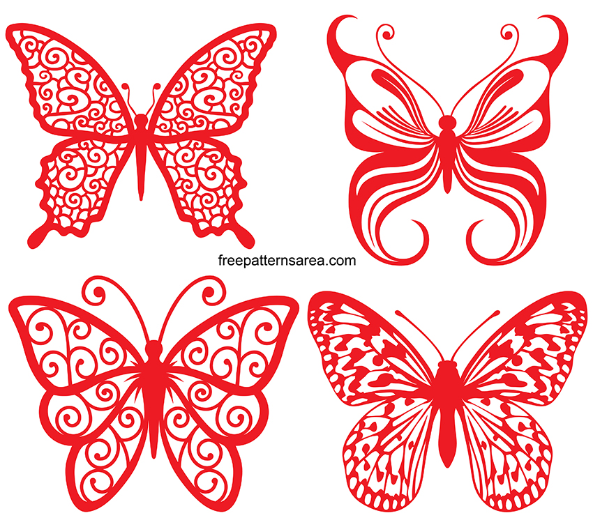 Silhouette Butterfly Svg Cut File Free