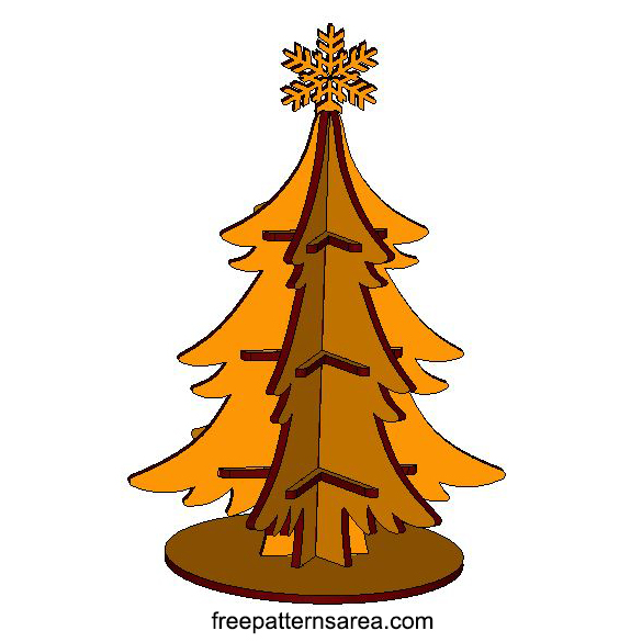 Wood Christmas Tree Design For Laser Cutters