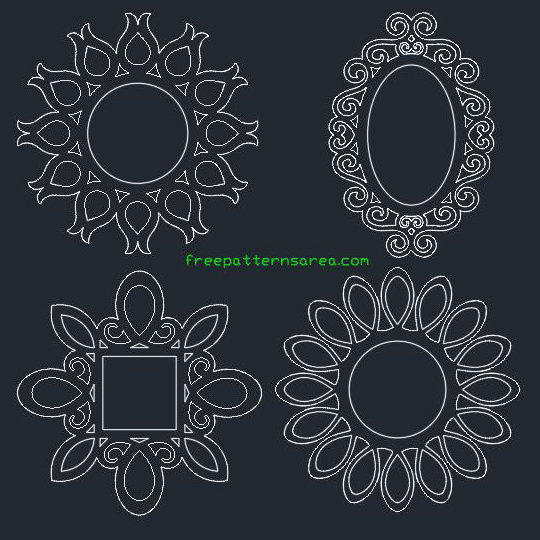 Round Wall Frame CNC Free dxf Files