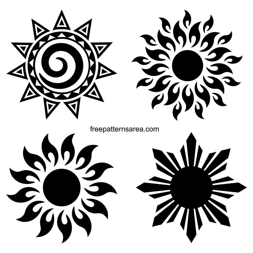 Clipart Sun Silhouette Vector Art Design Files