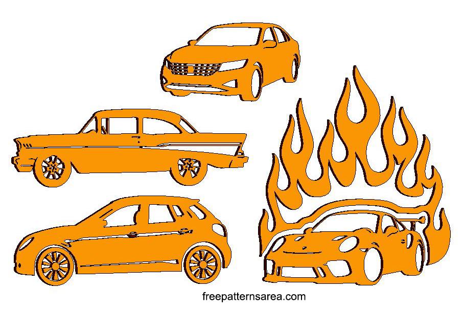 Laser Cut 2D Car Pattern