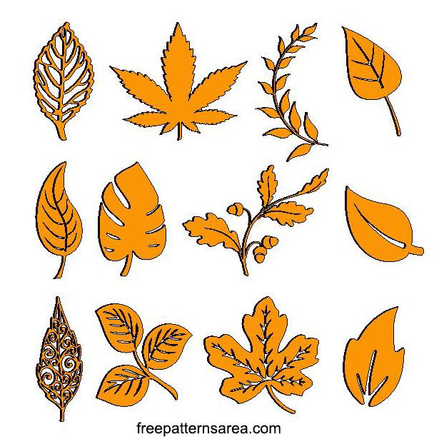 Laser Cut Wood Leaves Cutouts Pattern