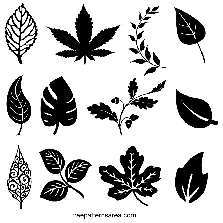 Leaves Silhouette Vector Designs And Clipart Images