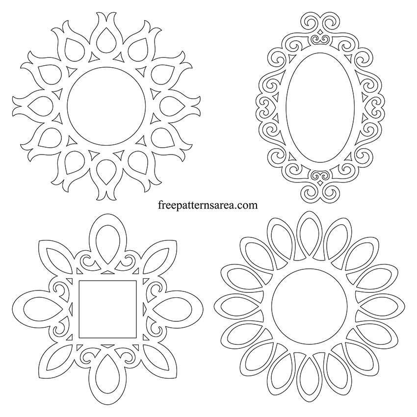 Round Wall Mirror Frame Printable Template