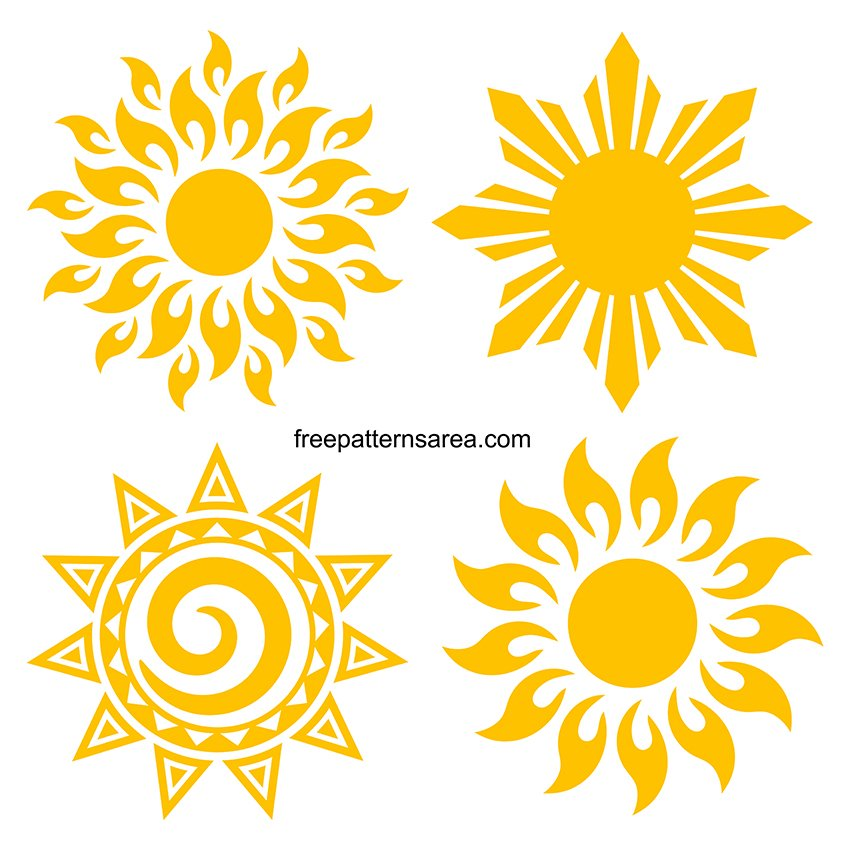 Sun Images SVG Downloadable Free Cut Files