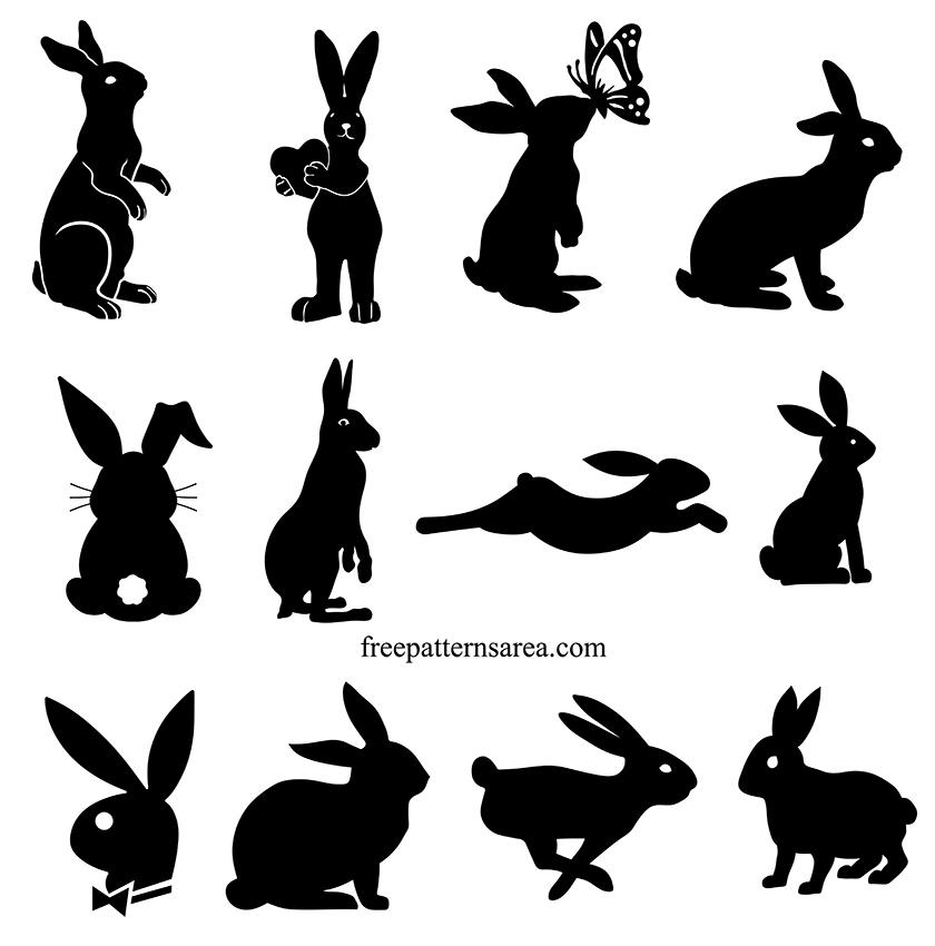 Bunny Rabbit Free Silhouette Clip Art Vector