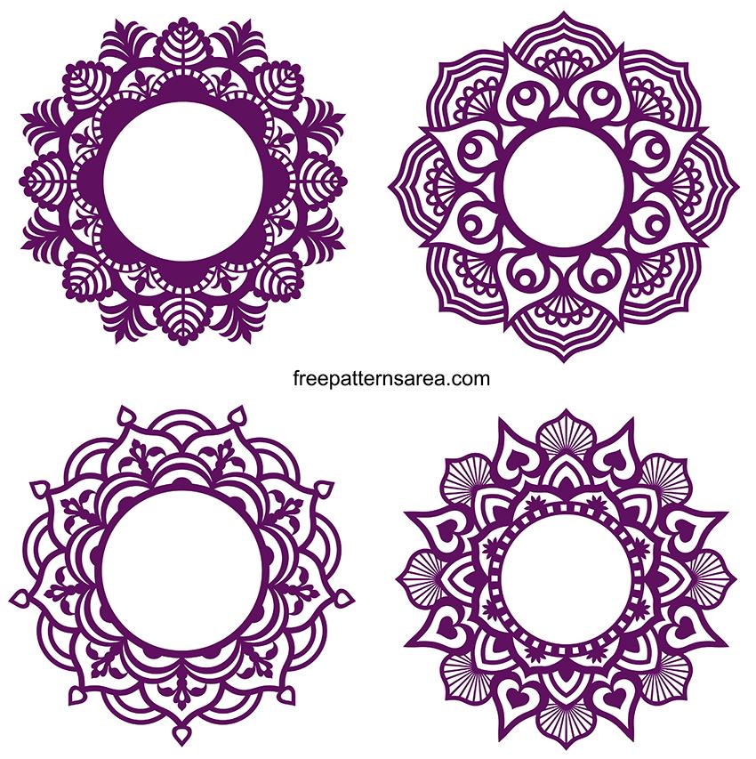 Decorative Circle Mandala Borders Svg Free