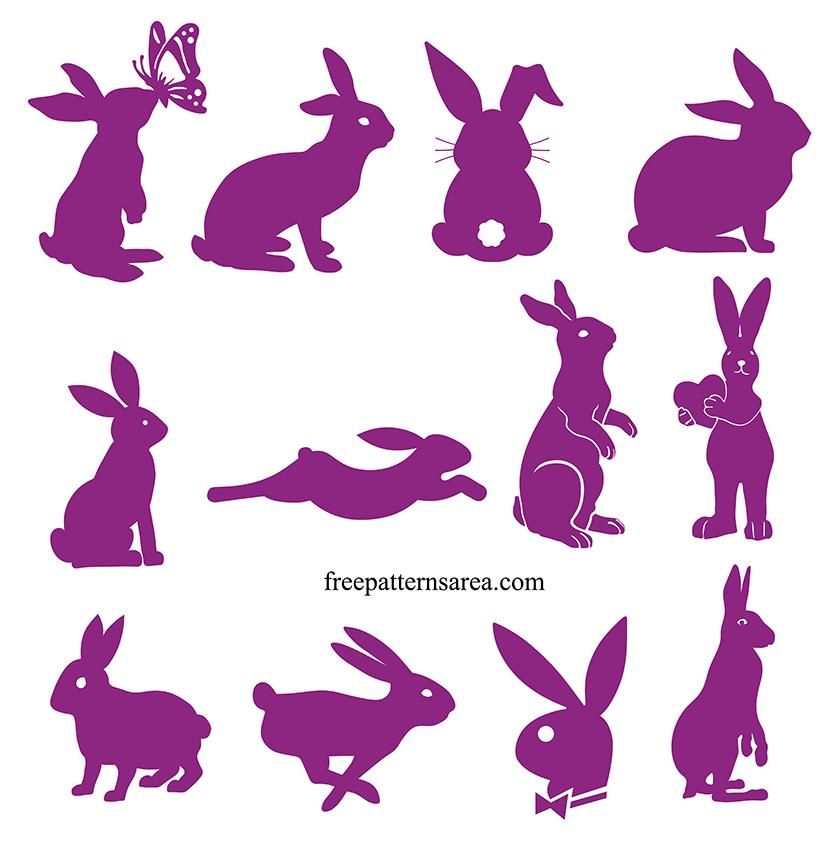 Free Easter Bunny Rabbit Svg Design