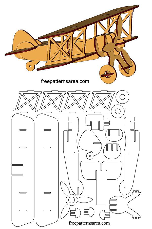 Model Wood Plane 3D Laser Cutting Plan