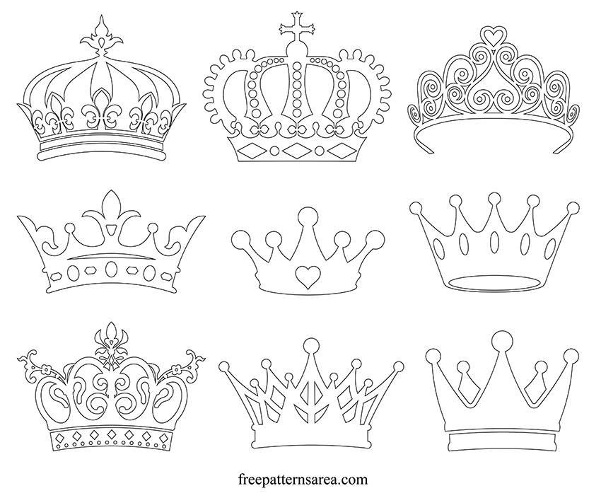 Printable Crown Outline Template