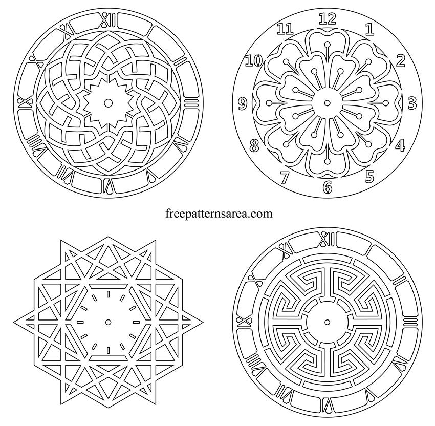 Printable Wall Clock Pdf Patterns