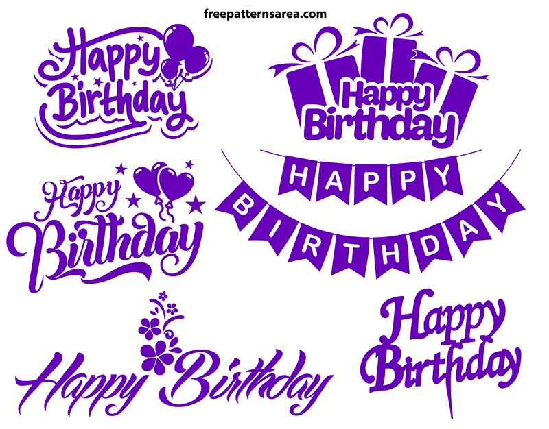 Free Happy Topper Birthday Svg Cutting Files