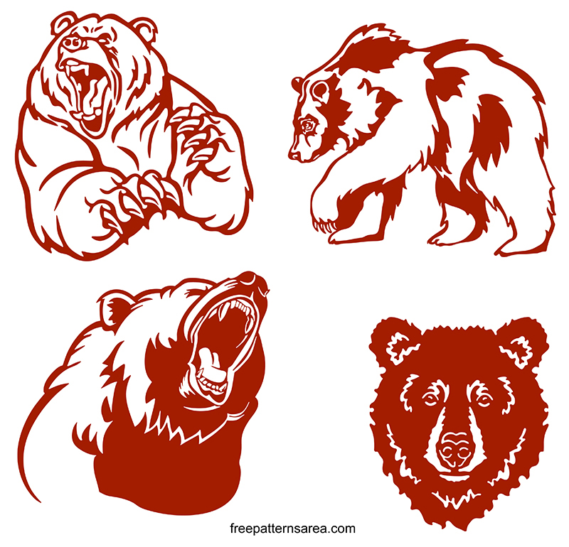 Grizzly Bear Free Svg Cilipart Cut Files