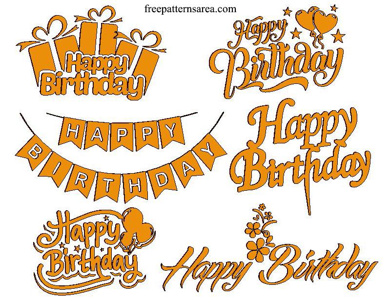 Laser Cut Happy Birthday Design