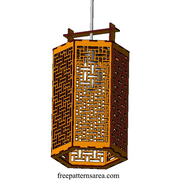 Laser Cutting Wood Ceiling Lamp Ideas