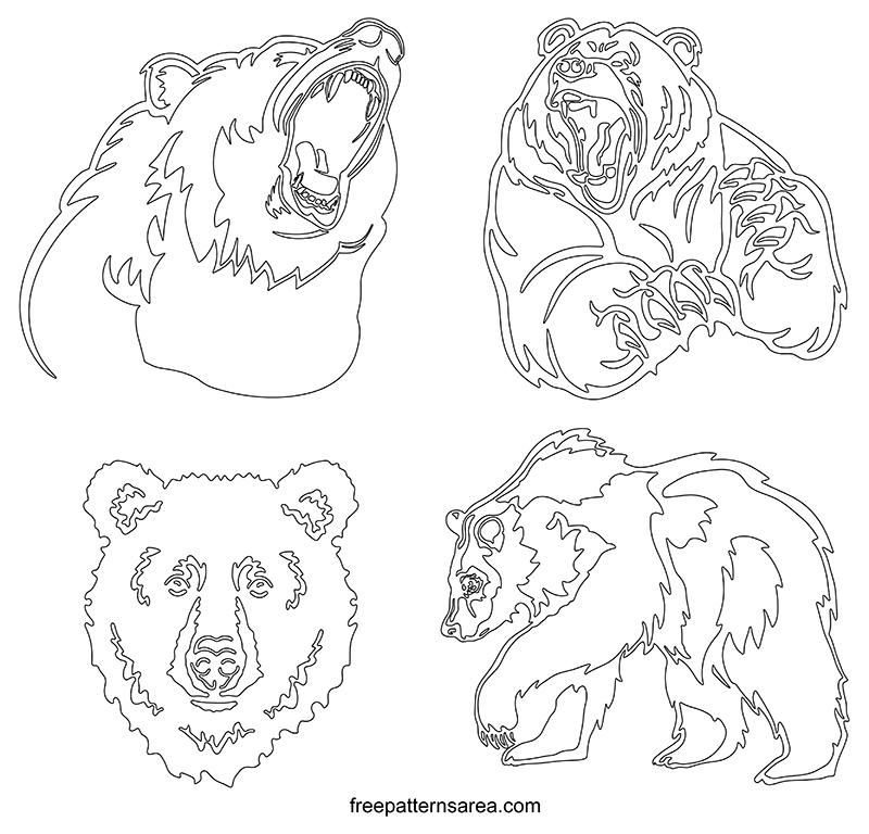 Printable Bear Outline Templates