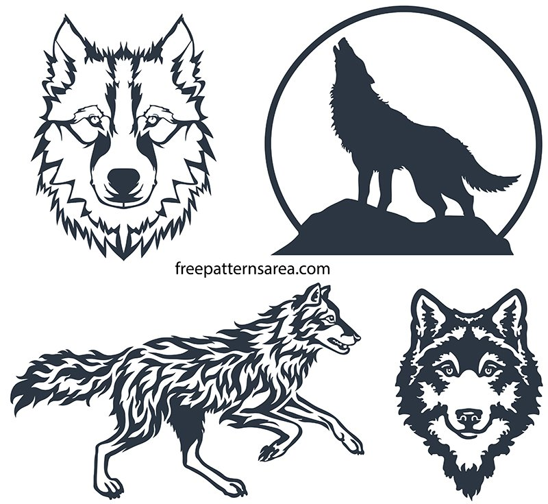 Clipart Wolf SVG Images Free