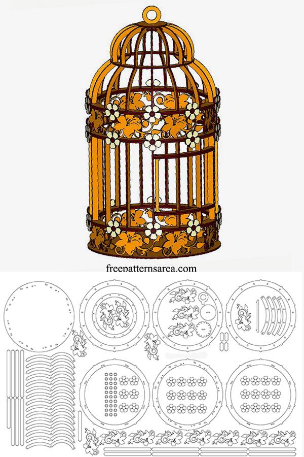 Creative Laser Cut Idea Laser Cut Bird Cage Plan