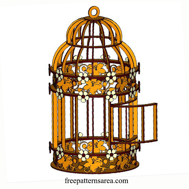 Decorative Wooden Bird Cage Free Laser Cutter Projects