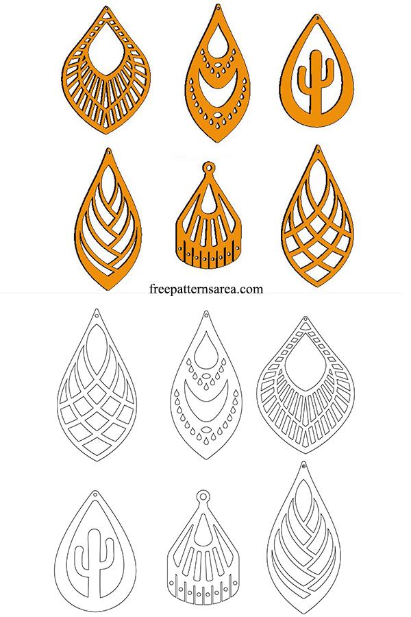 Homemade Diy Wood Earrings Ideas For Craft