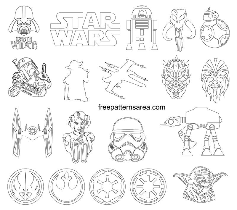 Printable Star Wars Outline Template