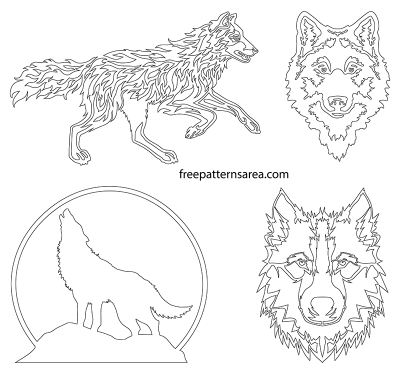 Printable Wolf Outline Template