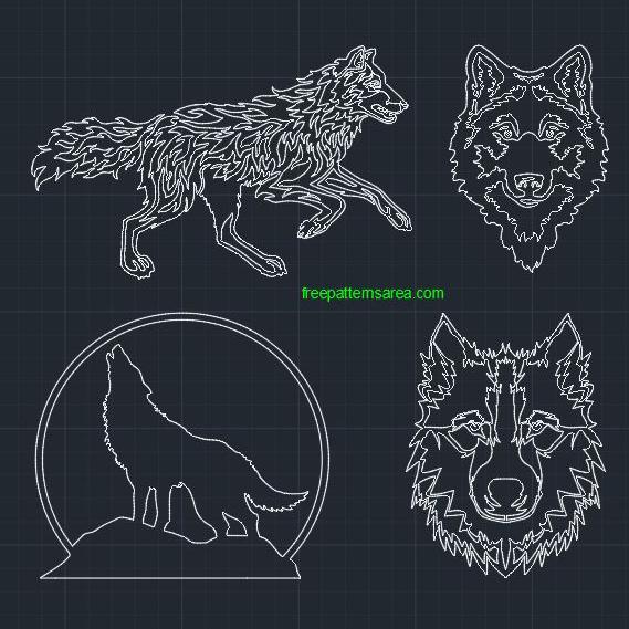 Wolf DWG Autocad CAD Block File