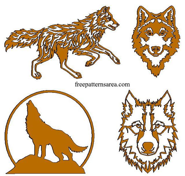 Wolf Free Laser Plasma Cutter Art Patterns