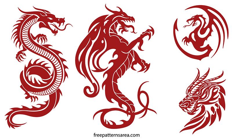Dragon Svg Clipart Silhouette Cricut Images
