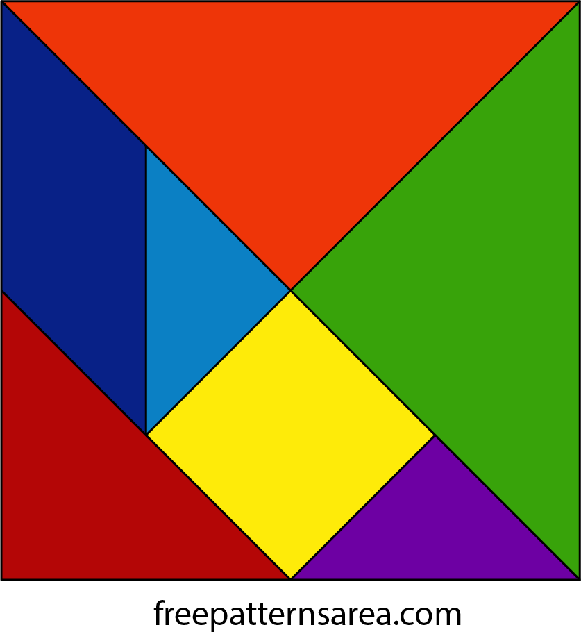 Tangram Puzzle Dissection Toy Plan Freepatternsarea