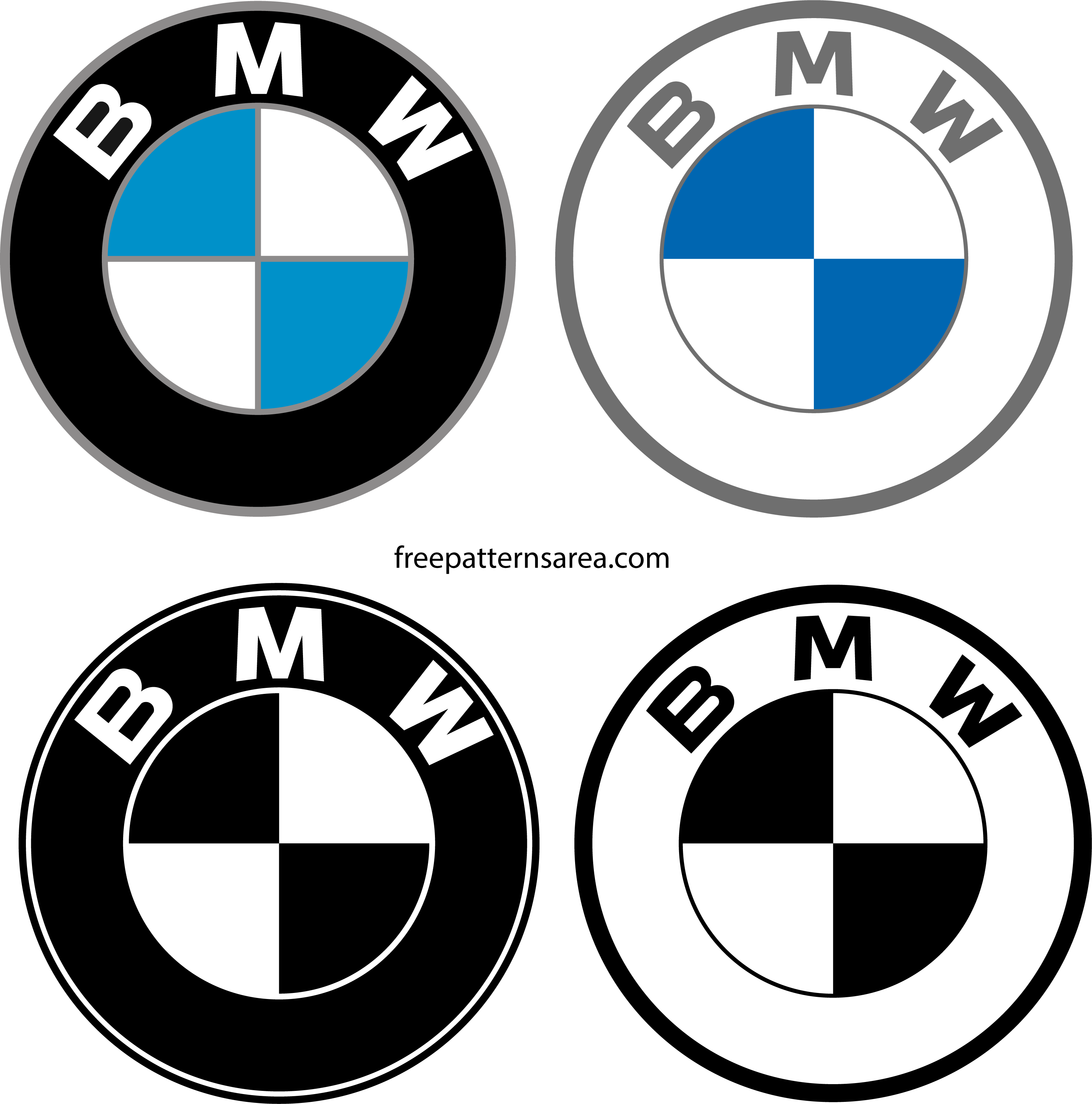 Bmw Logo Symbol Vector Clipart Files Freepatternsarea