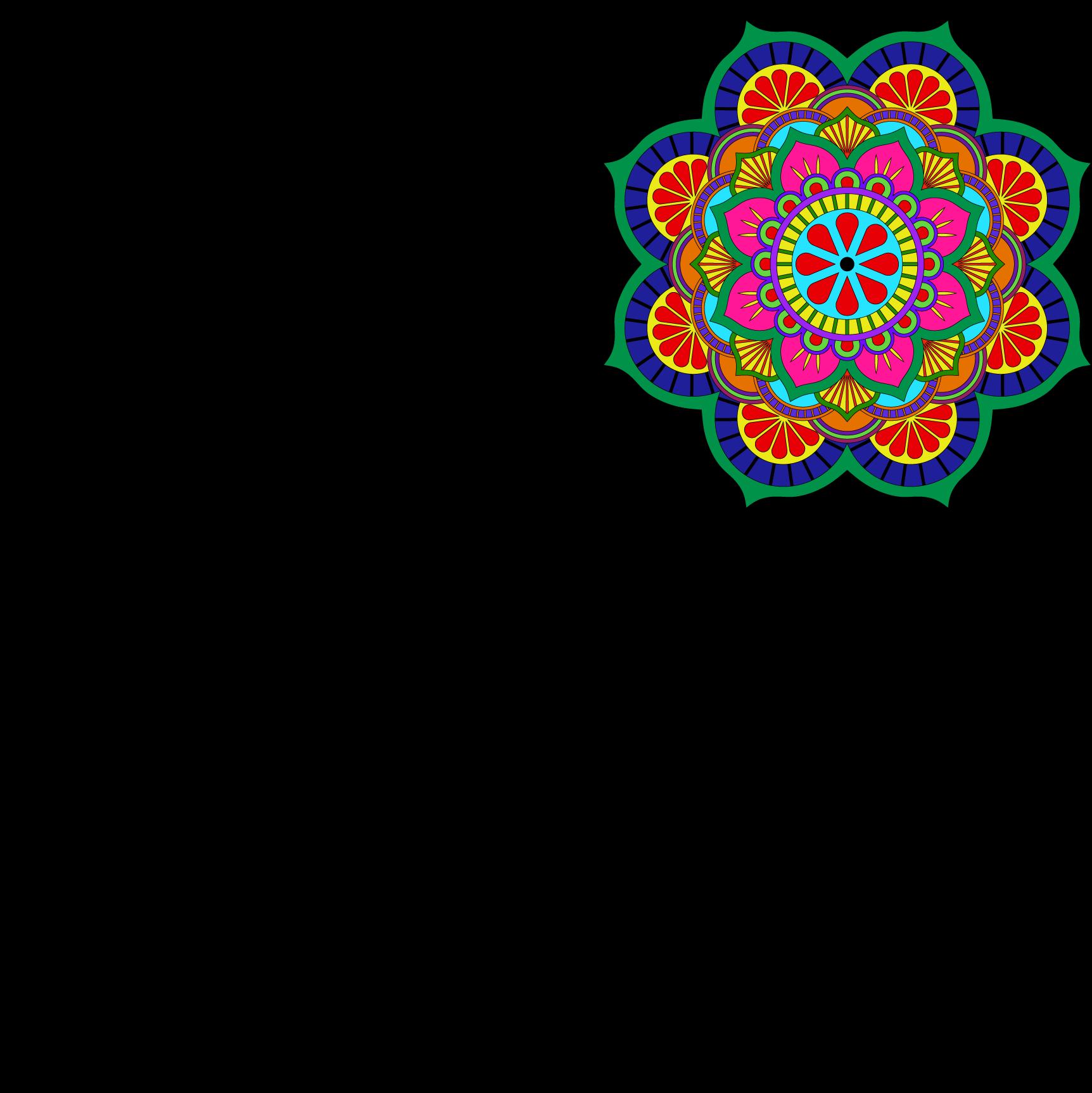 Lotus Mandala Vector Art Pattern Files | FreePatternsArea